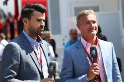 Steve Jones, Channel 4 F1 Presentator met David Coulthard, Channel 4 F1 Commentator