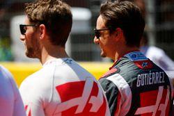 Romain Grosjean, Haas F1 Team y Esteban Gutiérrez, Haas F1 Team