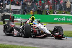 Sébastien Bourdais, KV Racing Technology Chevrolet with damaged front wing