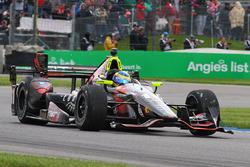 Sébastien Bourdais, KV Racing Technology Chevrolet, mit beschädigtem Frontflügel