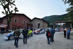 Le vetture del Rally presso il Museo Mille Miglia di Brescia