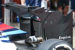 Williams FW 38, ala posteriore con doppio flap ed extra winglets