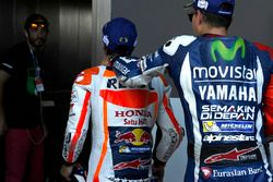Race winner Dani Pedrosa, Repsol Honda Team, third place Jorge Lorenzo, Yamaha Factory Racing