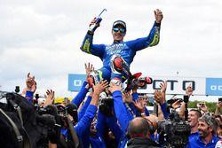 Le vainqueur Maverick Viñales, Team Suzuki MotoGP