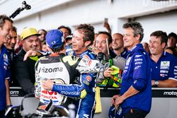 Valentino Rossi, Yamaha Factory Racing, troisième, et Cal Crutchlow, Team LCR Honda, deuxième