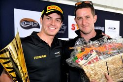 Nathan Morcom, TEKNO Autosport with his trophy