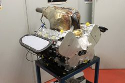 Motore in fase di test