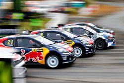 Timmy Hansen, Team Peugeot Hansen; Sébastien Loeb, Team Peugeot Hansen;
