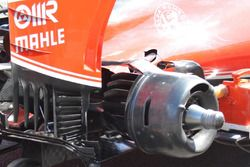 Ferrari SF16H, le pinne sui freni posteriori usate a Sochi