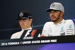 1. Lewis Hamilton, Mercedes AMG F1; 2 Nico Rosberg, Mercedes AMG F1