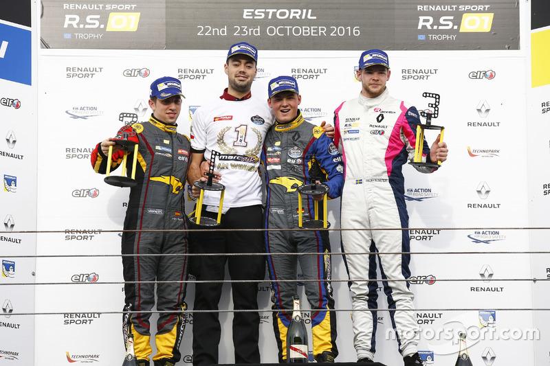 Podium: Race winner #9 Team Marc VDS Renault RS01: Fabian Schiller; second place #15 Team Marc VDS Renault RS01: Fran Rueda; third place #3 R-ace GP Racing Renault RS01: Fredrik Blomsted