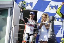 Podium : le vainqueur Cal Crutchlow, Team LCR Honda