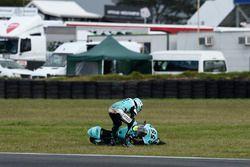 La caduta di Andrea Locatelli, Leopard Racing