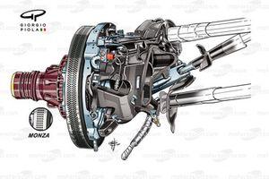 Ferrari SF70H: Vorderradbremse, GP Singapur