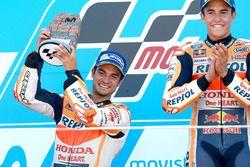 Podium : le vainqueur Marc Marquez, Repsol Honda Team, le deuxième, Dani Pedrosa, Repsol Honda Team