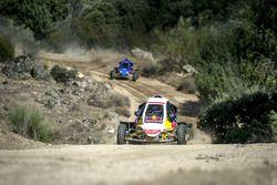 Carlos Sainz and Carlos Sainz Jr. perform at the rally circuit in Cebreros