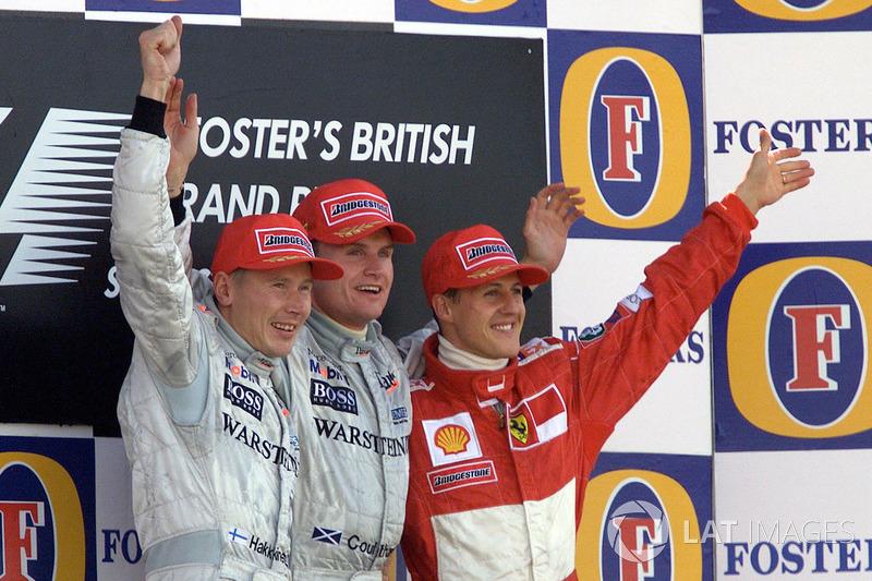 2000: 1. David Coulthard, 2. Mika Hakkinen, 3. Michael Schumacher