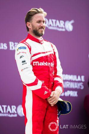 Nick Heidfeld, Mahindra Racing, sur le podium