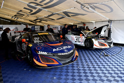 #93 RealTime Racing Acura NSX GT3, #43 RealTime Racing Acura NSX GT3