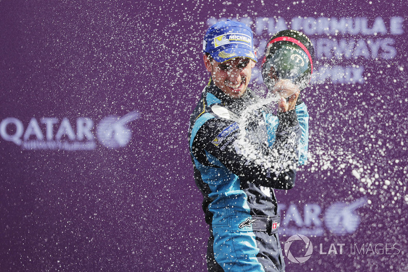 Podio: ganador de la carrera Sébastien Buemi, Renault e.Dams