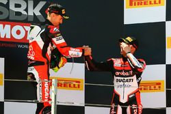 Podyum: Yarış galibi Chaz Davies, Ducati Team, 3. Marco Melandri, Ducati Team