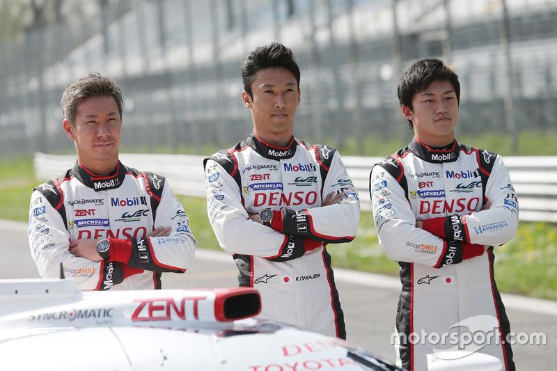 Kamui Kobayashi, Kazuki Nakajima, Yuji Kunimoto, Toyota Racing