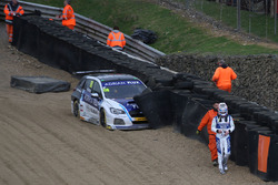 Ashley Sutton, Team BMR Subaru Levorg crash