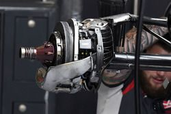 Haas F1 Team VF-17 rear wheel detail