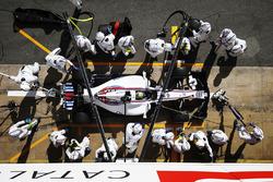 Pitstopoefening voor Felipe Massa, Williams FW40