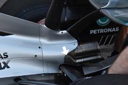 Vue détaillée de l'arrière de la Mercedes W08