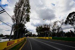 Track detail, including Pirelli signage