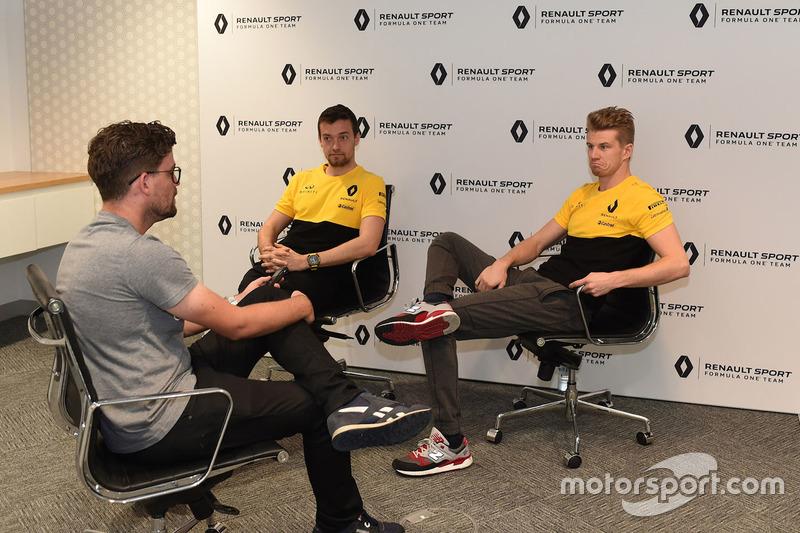 Andrew van Leeuwen, de Motorsport.com Australia, entrevista a Palmer y Nico Hulkenberg