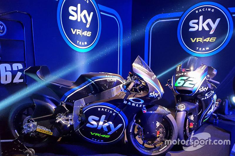 The Moto2 bikes of Francesco Bagnaia and Stefano Manzi