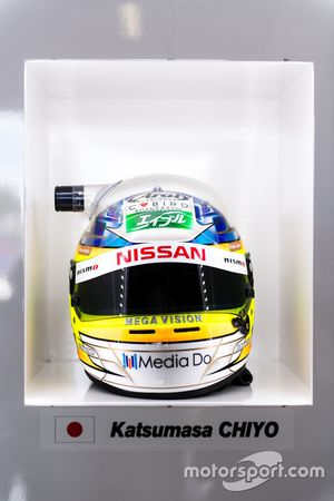 #23 Nissan Motorsport, Nissan GT-R Nismo GT3: Katsumasa Chiyo helmet