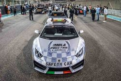 Safety car on the starting grid