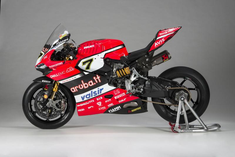 La moto de Chaz Davies, Ducati Team