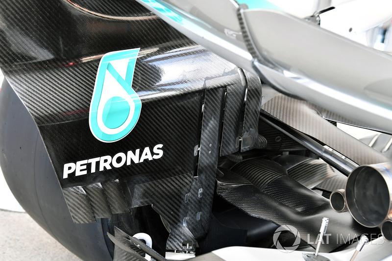 Mercedes AMG F1 F1 W08: Heckflügel
