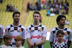 Daniel Ricciardo, Red Bull Racing; Daniil Kvyat, Scuderia Toro Rosso; Carlos Sainz Jr., Scuderia Tor