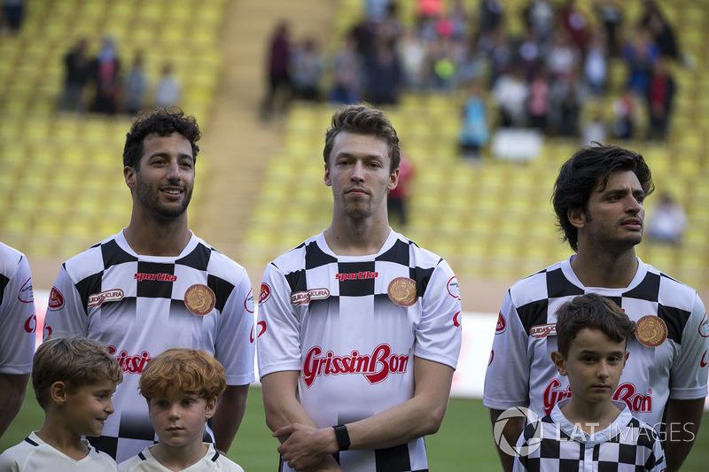 Daniel Ricciardo, Red Bull Racing, Daniil Kvyat, Scuderia Toro Rosso y Carlos Sainz Jr., Scuderia Toro Rosso