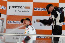 Podium: #1 Montaplast by Land-Motorsport, Audi R8 LMS: Christopher Mies und #19 GRT Grasser Racing T