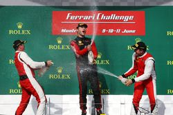 Podium: race winner Martin Fuentes celebrates