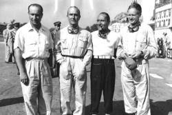 L'équipe Alfa Romeo : Juan Manuel Fangio, Giuseppe Farina, Felice Bonetto et Emmanuel de Graffenried