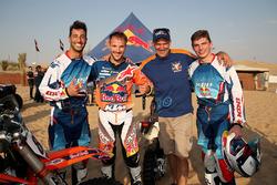 Daniel Ricciardo, Red Bull Racing, Sam Sunderland, Heinz Kinigadner y Max Verstappen, Red Bull Racin