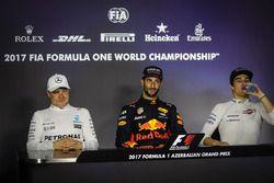 Conferencia de prensa: ganador de la carrera Daniel Ricciardo, Red Bull Racing, tercer lugar Lance S