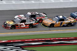 Ty Dillon, Richard Childress Racing Chevrolet, Joey Logano, Team Penske Ford, and Elliott Sadler, JR