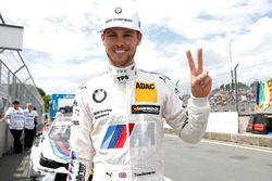 Le poleman Tom Blomqvist, BMW Team RBM, BMW M4 DTM