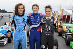 Yarış galibi Robert Shwartzman, Josef Kaufmann Racing, Max Defourny, R-ace GP, Sacha Fenestraz, Jose