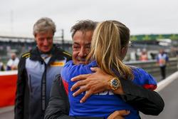 Jean Alesi at the podium