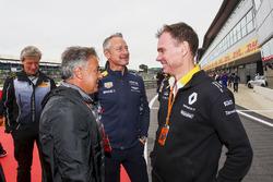 Jean Alesi, Alan Permane, Renault, Jonathan Wheatley, Red Bull Racing at the podium