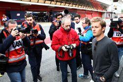 Nico Rosberg avec les médias